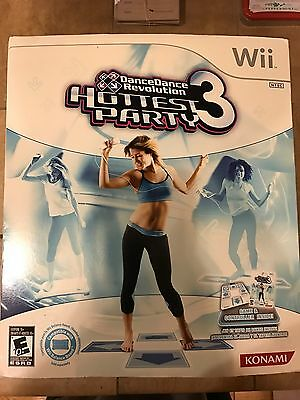 Nintendo Wii Dance Dance Revolution Hottest Party 3 Game Dance Pad Controller for sale  Shipping to India