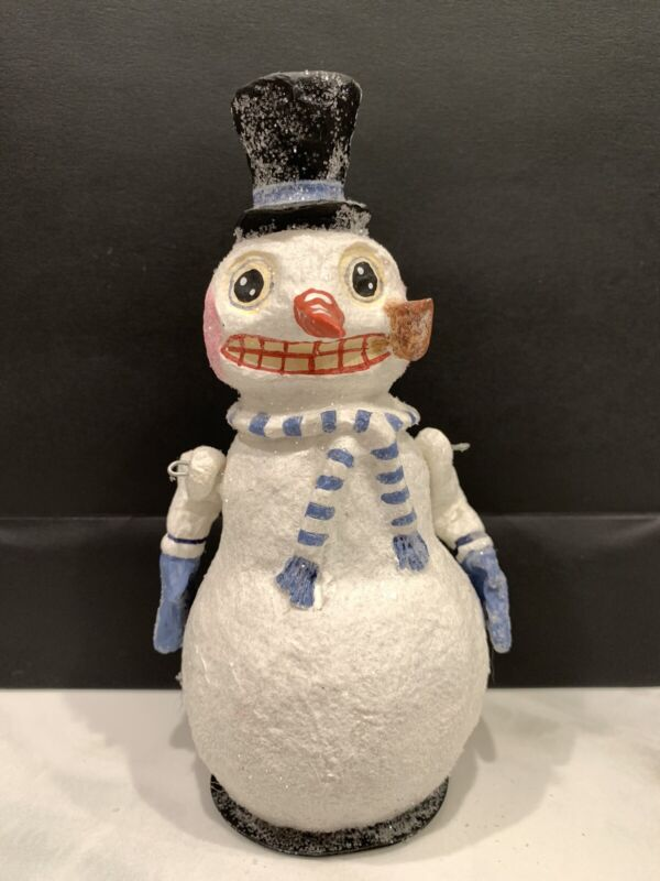 Retired Poliwoggs American Folk Art Collectibles Jointed Snowman Figure