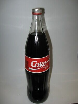 Coke  Cola 1 Litre Full Bottle with Paper Label South Australia with Cap 1994
