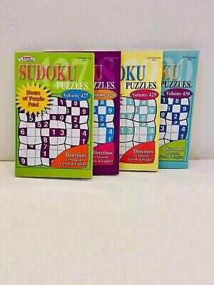 Bundle of 4 Sudoku Puzzle books by Kappa 427-430