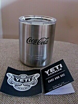 YETI COCA-COLA COKE 10 OZ STAINLESS STEEL VACUUM INSULATED RAMBLER CUP WITH LID