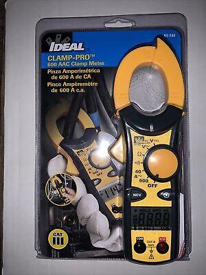 New Ideal 61-744 Digital Clamp Meter 600a 600v Voltage Meter