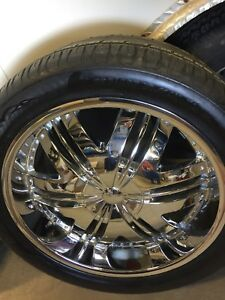 22' DIP Chrome rims