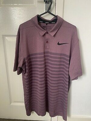 Nike Golf Dri Fit Polo Top Medium Purple Lilac Short Sleeved
