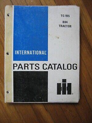 International 884 Tractor Parts Catalog Original Tc-195