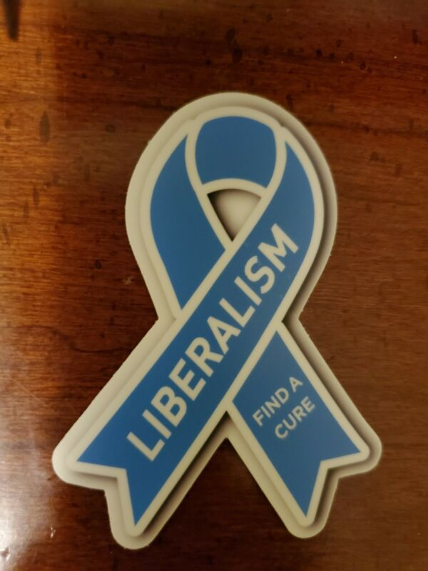 Liberalism is a mental disorder Help Find The Cure Political sticker 3 inch Bow