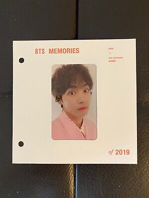 BTS Memories of 2019 Blu Ray [Official Photocard + Paper Frame Only] V Taehyung