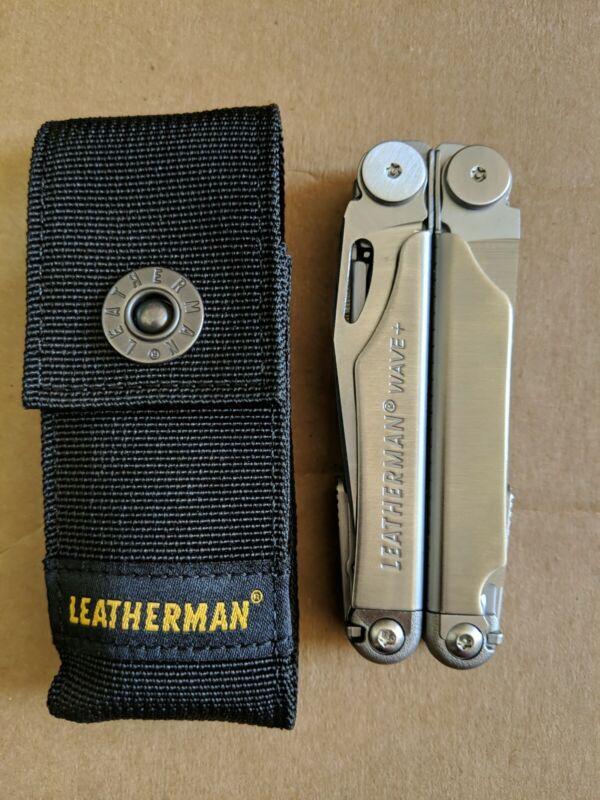 NEW SEALED Leatherman WAVE + PLUS 18 Tools Multi-Tool Stainless w/ Nylon Sheath
