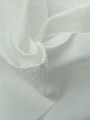 100% Natural Linen Fabric By the Yard PFD Undyed ()