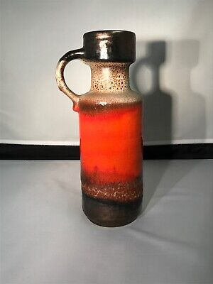 Tonnieshof  Carstens W. Germany Pitcher Fat Lava Pottery Orange/Brown