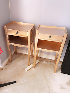Set of gold French style bedside tables Campbelltown Campbelltown Area Preview