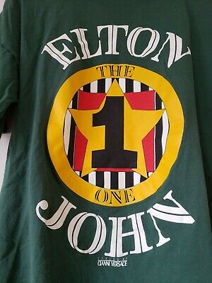 VINTAGE 90s ELTON JOHN GIANNI VERSACE THE ONE CONCERT T-SHIRT MENS LARGE (Versace The One)