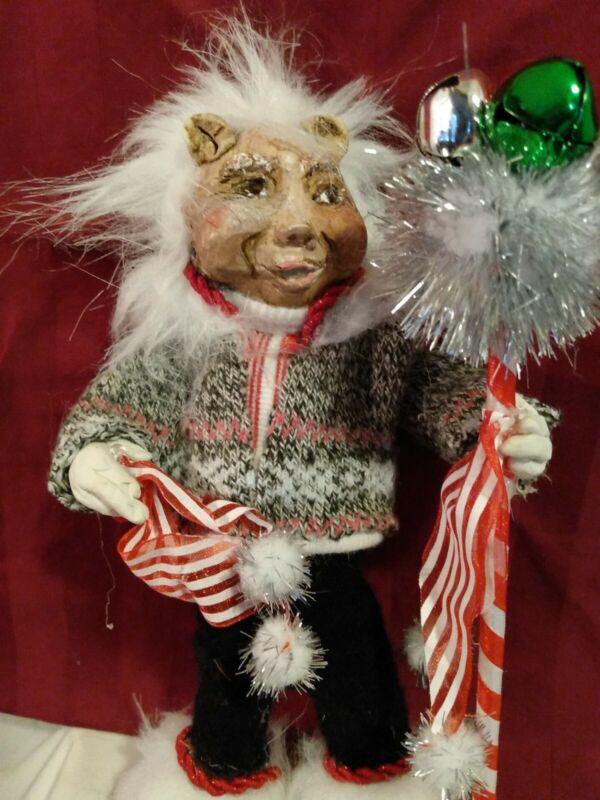 ONE-OF-A-KIND Handmade Artisan Human Gnome Doll Figurine walking stick