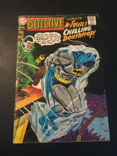 "DETECTIVE COMICS #373 1968 DC 2ND APP OF MR FREEZE WITH THE NAME ""MR FREEZE"" VG-"