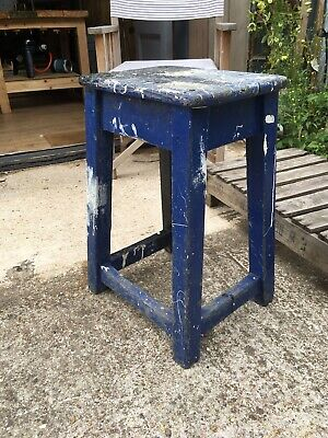Painted Retro Wooden Stool