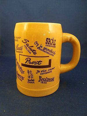 Vintage Limburg Echt Dom-Keramik Keramiktasse Stein Prost Prost 1/2 Liter 1637 Keramik-keramik-tasse