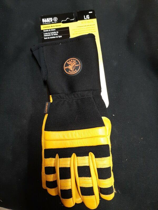 Klein Tools 40082 Lineman Work Gloves, Large