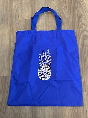 "AQUAZZURA FIRENZE Blue Pineapple Logo Shoe Dust Bag Tote 15.5"" x 18.5"""