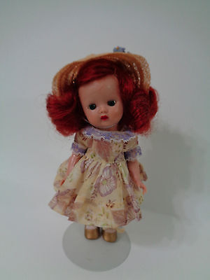 Nancy Ann Muffie Doll Strung Red Hair Pristine Outfit Painted Lashes
