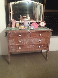 Silky Oak Drawers/sideboard with mirror Ascot Brisbane North East Preview