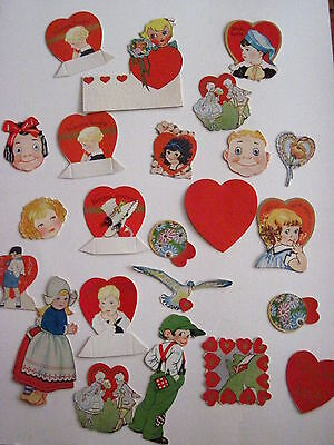 Vintage Antique Valentine Decorations w/ 24 Little Decorations for Your Table * - Vintage Valentine Decorations