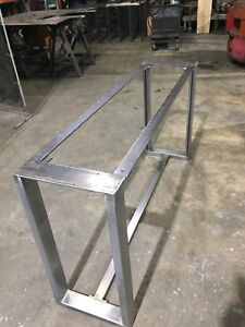 Heavyduty steel table base and legs for live edge wood!