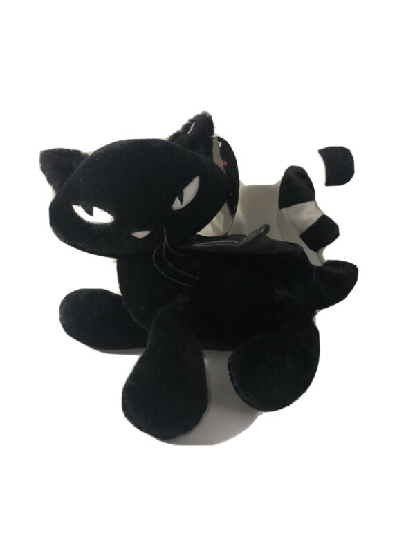 Emily The Strange Black Cat Plush With Snap On Wings (2005) NWT