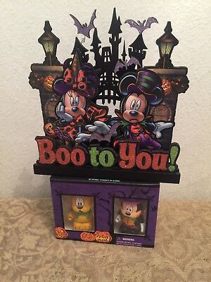 DISNEY HALLOWEEN BOO TO YOU SIGN & 2014 VINYLMATION COMBO SET