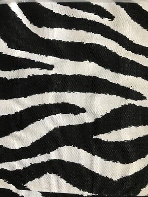Release Finish ( Black & White 100% Cotton Soil Release Finish Zebra Fabric 54