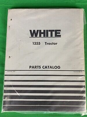 Oem White 1355 Tractor Parts Catalog Manual Book 433-199