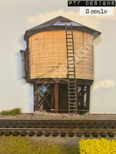 "S Scale "" WATER TOWER "" Trackside Building Flat Background - AMERICAN FLYER"