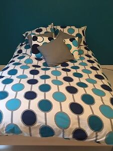 Bright, clean bedding set for double bed