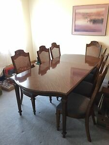 DINING TABLE AND CHINA CABINET