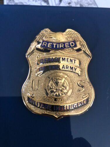 U.S. Army Military Intelligence Retired Shield   Retired  MI Mini Badge
