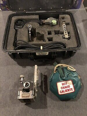 Mcelroy Model 1lc Fusion Welder Set Facer Heater Assemble Machine Used W Case