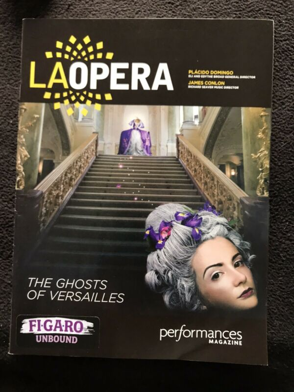 "2015 New ""THE GHOSTS OF VERSAILLES"" LA Opera W/ Patti LuPone Program W.C.P"