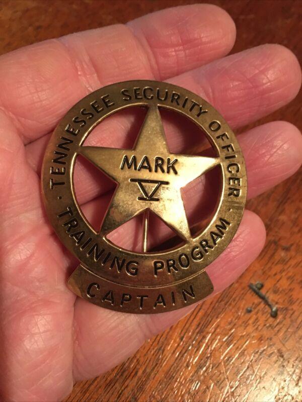 Tennessee Security Training Program Captain Mark V Emblem Pin