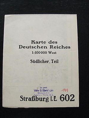 alte Landkarte Karte Messtischblatt Nr 602 Straßburg im Elsass von 1915