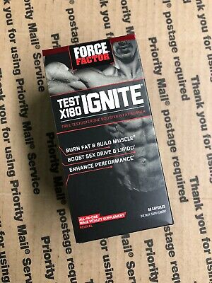 Force Factor Test X180 Ignite 60ct Exp 12/20 #3296