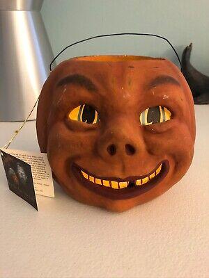 Bethany Lowe Designs Pumpkin Bucket Halloween ~ Bruce Elsass Jack O lantern