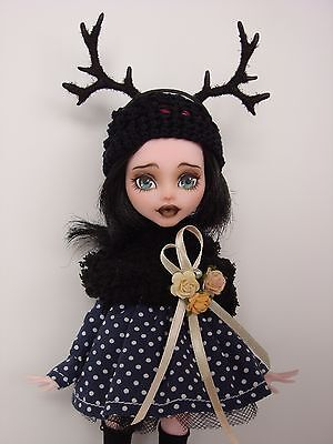 OOAK Fawn Goth Draculaura Monster High OOAK doll