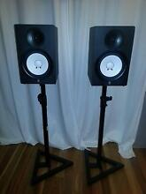 speakers + stands YAMAHA HS80 Cottesloe Cottesloe Area Preview
