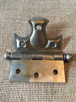 Antique offset decorative steel ball tip half mortise hinge hardware 4