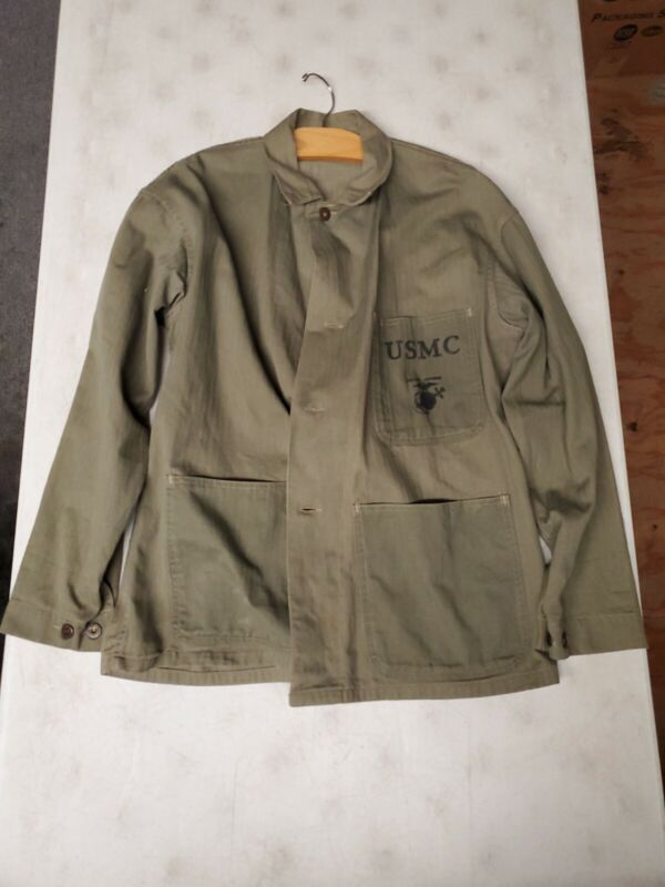 1954 USMC Harringbone Shirt Size 42 Large