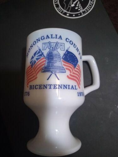 Monongalia County WV Bicentennial 1976 Pedestal Mug (21-129)