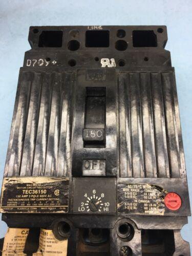 GE TEC136150, 600 volt, Breaker
