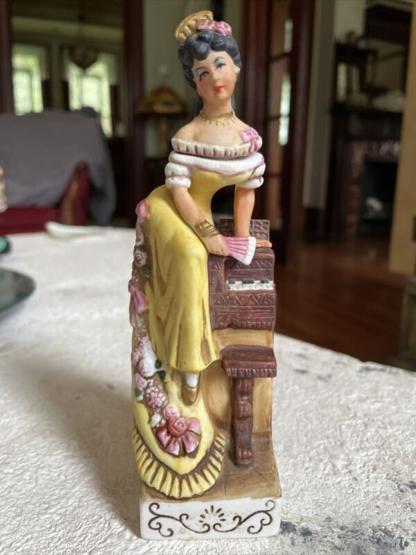 "Vintage CYRUS NOBLE MINE DECANTER BY HAAS BROTHERS ""PIANO GIRL"". RARE"