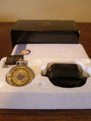 THE FRANKLIN MINT   HARLEY-DAVIDSON BADGE OF HONOR COLLECTOR  WATCH
