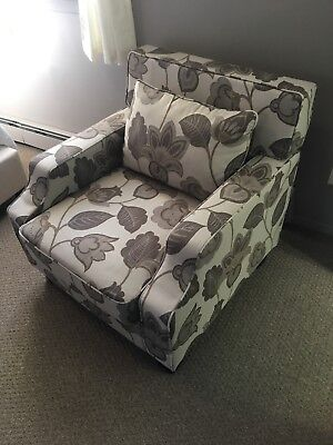 Arm Chair by INSPIRE Q Broadway Grey Floral Sloped Track