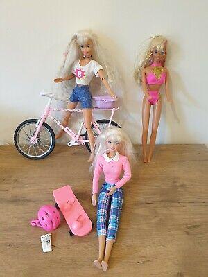 Vintage Barbie Bundle Splash And Colour, Barbie & Ginger Doll Country Bike VGC